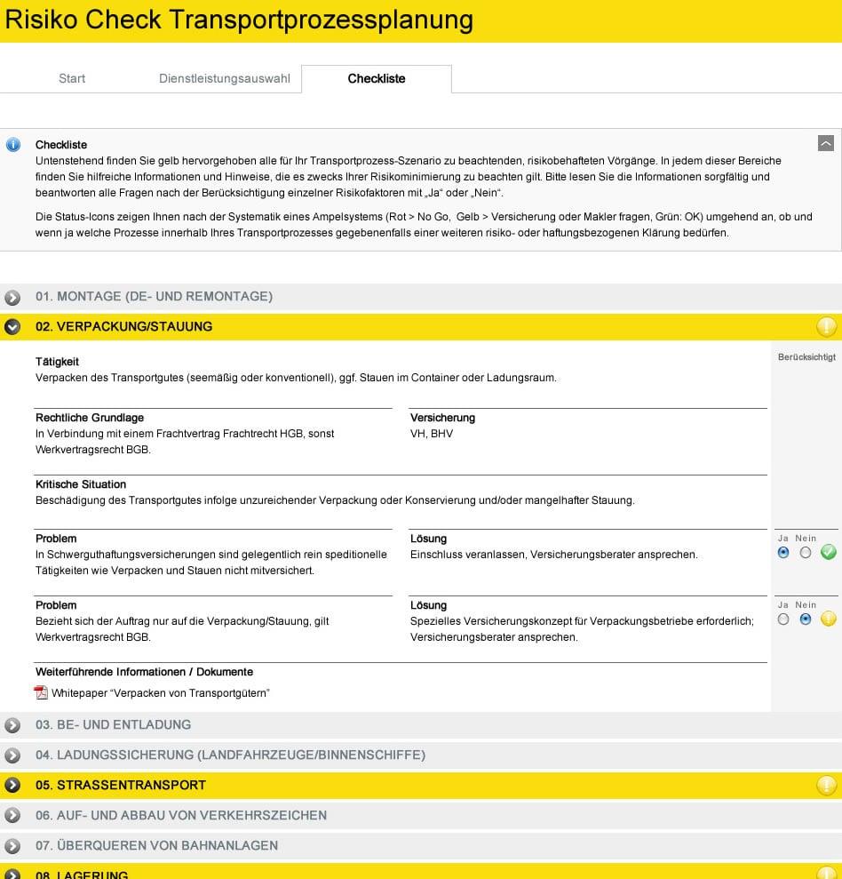 Programmierung BSK Risiko-Check-Tool