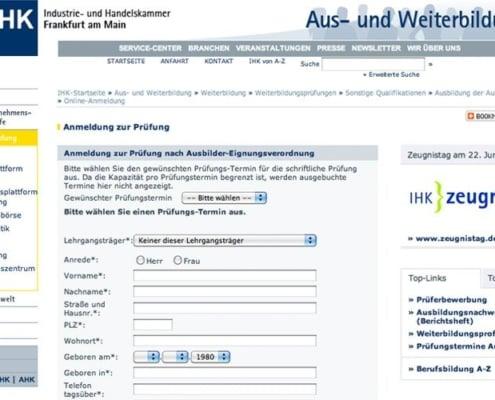 Anmelde-Tool und Formularmanager