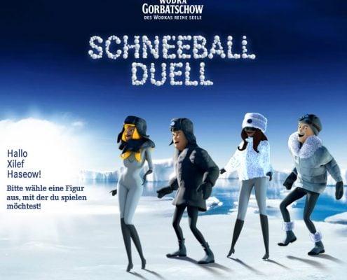 Facebook-App Schneeball Duell