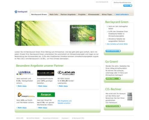 Konzeption, Website und Vermarktung einer Kreditkarte