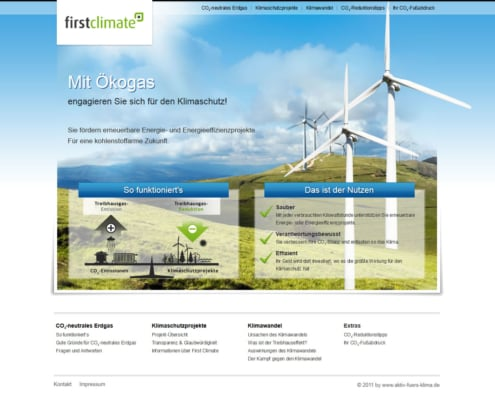 Aktiv fürs Klima - Multidomain White-Label-Microsite